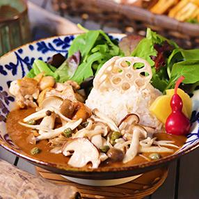 きの子&薩摩鶏のスパイシーカレー